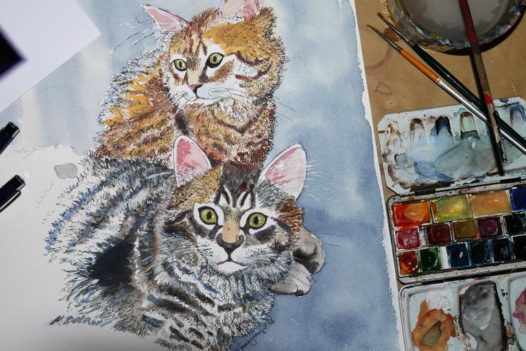 Paint Your Pets And Frame Them With Custom Pet Portraits!